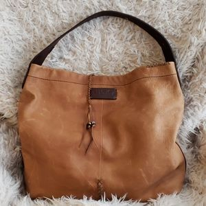 Large LUCKY BRAND Leather Hobo Bag